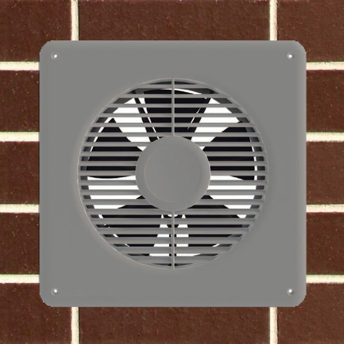 3 Speed Underfloor Dc Ventilation Fan White