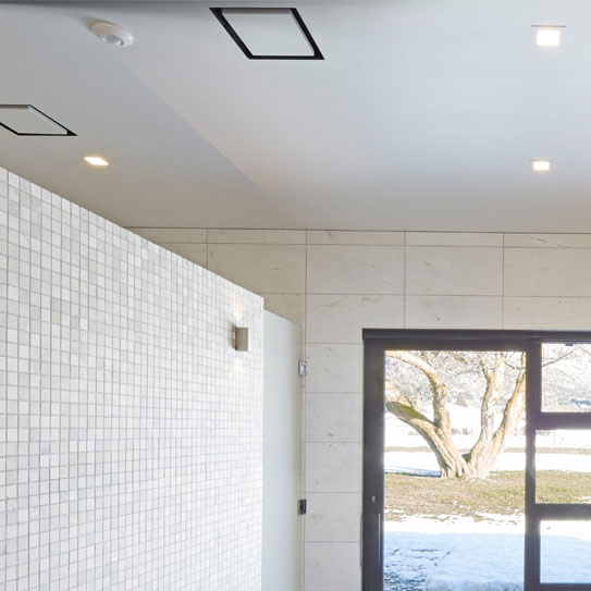 250mm Frameless Vent White With 150mm Duct Adaptor