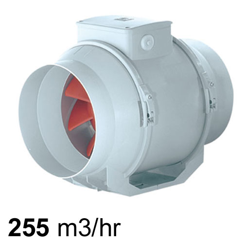 Vortice Lineo Mixed Flow Inline Fan 100mm Pure Ventilation