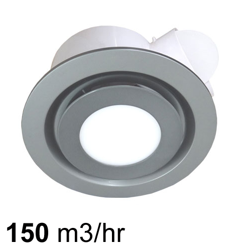 Airbus exhaust fan 200 low profile silver with led light airbus 200 exhaust fan with 10w led light silver aloadofball Image collections