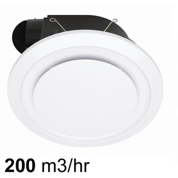Mercator novaline ceiling exhaust fan round white 240 aloadofball Image collections