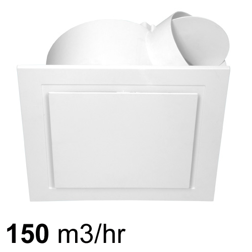 Airbus 200 Low Profile Exhaust Fan - White| Pure Ventilation
