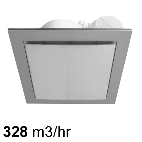 Airbus 250 Square Low Profile Exhaust Fan Silver Pure Ventilation