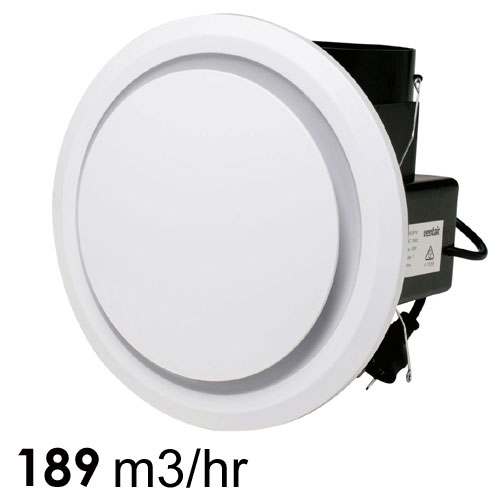 Ventair Olson Fan Round White 250mm