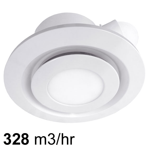 Airbus 250 Low Profile Exhaust Fan White With Led Light