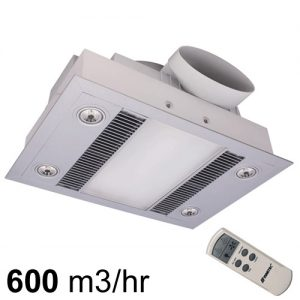 Exhaust Fan With Heat And Light Bathroom Extractor Fans
