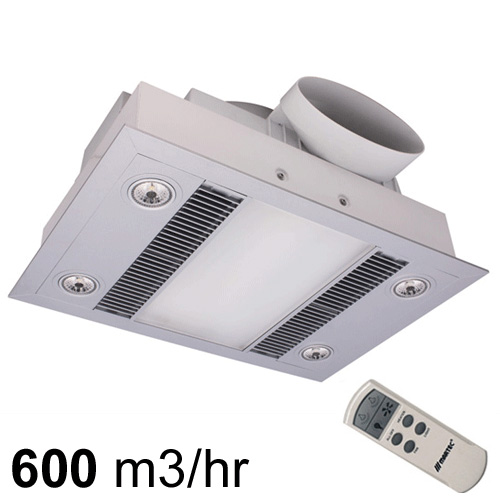 Martec Linear Exhaust Fans With Heat, Bathroom Heater Fan Light With Remote Control