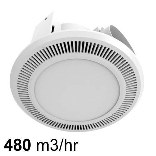 Mercator ultraline exhaust fan with led light for High capacity bathroom exhaust fans