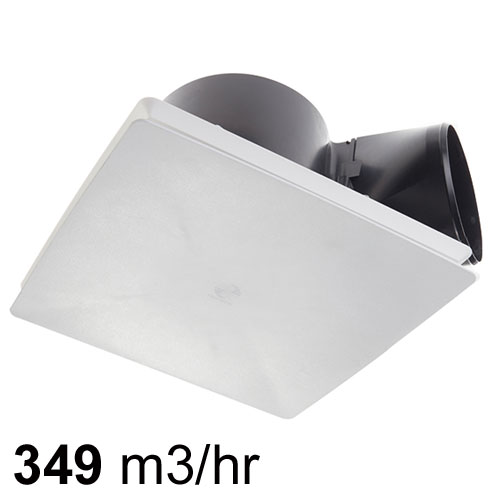 Rapid Response Ceiling Exhaust Fan Square White