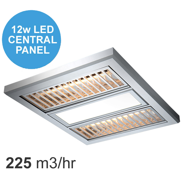 Ventair Regent Exhaust Fan Heat U0026 LED Light With Aluminium Grate U2013 Silver
