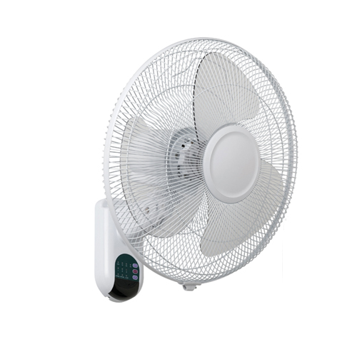 Plastic Wall Fan With Pull Cord Amp Lcd Display White 16