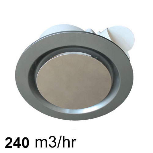 Airbus 225 Low Profile Exhaust Fan Silver Pure Ventilation