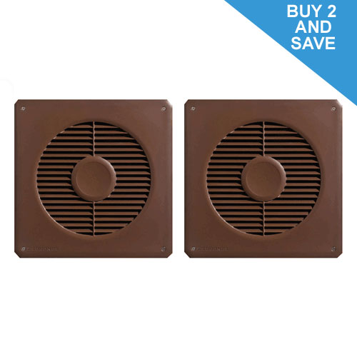3 Speed Dc Sub Floor Ventilation Fan Brown 2 X Pack