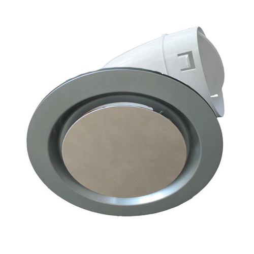 Round Silver Plastic Ceiling Vent | 150mm Duct Connector