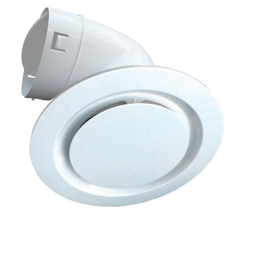 Round White Plastic Ceiling Vent 150mm Duct Connector
