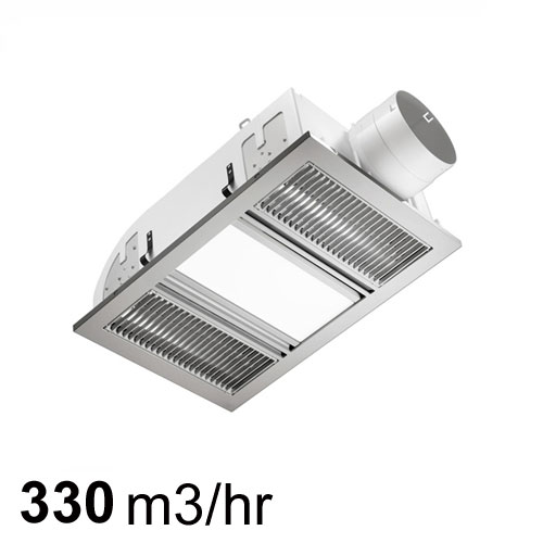 Ventair airbus exhaust fan heat led light silver - Commercial grade bathroom exhaust fans ...