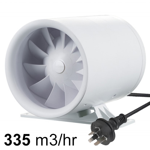 Quietline Inline Fan 150mm With Lead And Plug