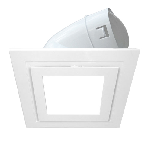 Square Vent Led Light With 150mm Duct Adaptor White