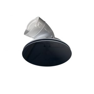 Round Glass vent Black